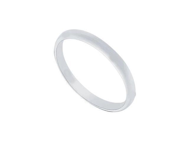 Platinum 2MM Half Round Non-comfort fit Wedding Band