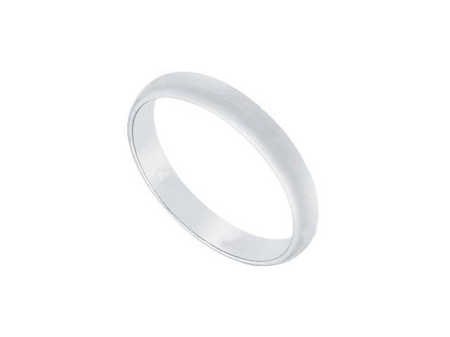 Platinum 2.5MM Half Round Non-comfort fit Wedding Band