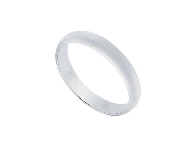 Platinum 3MM Half Round Non-comfort fit Wedding Band