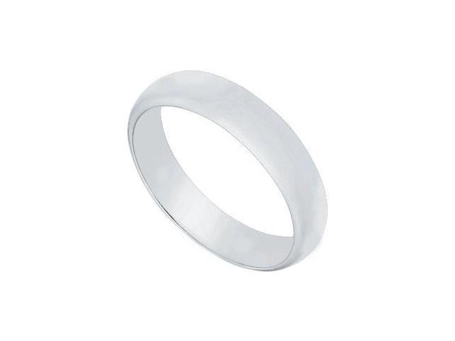 Platinum 4MM Half Round Non-comfort fit Wedding Band