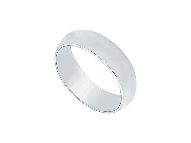 Platinum 5MM Half Round Non-comfort fit Wedding Band