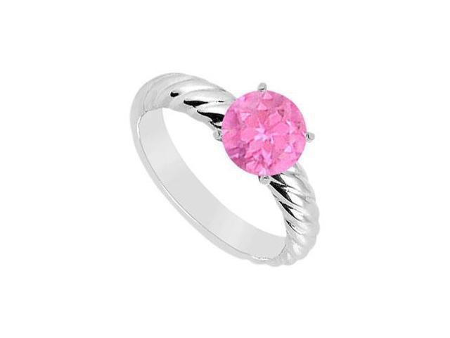 Pink Topaz Ring  14K White Gold - 1.00 CT TGW