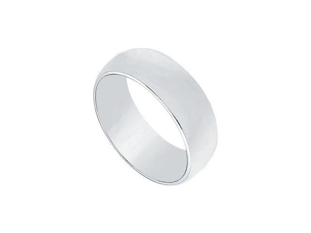 Platinum 6MM Half Round Non-comfort fit Wedding Band