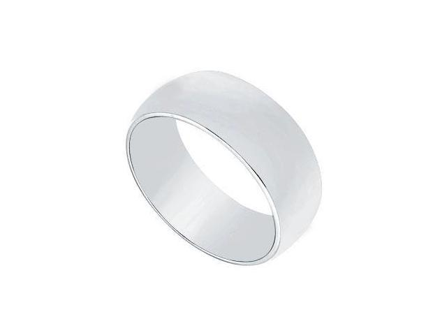 Platinum 7MM Half Round Non-comfort fit Wedding Band