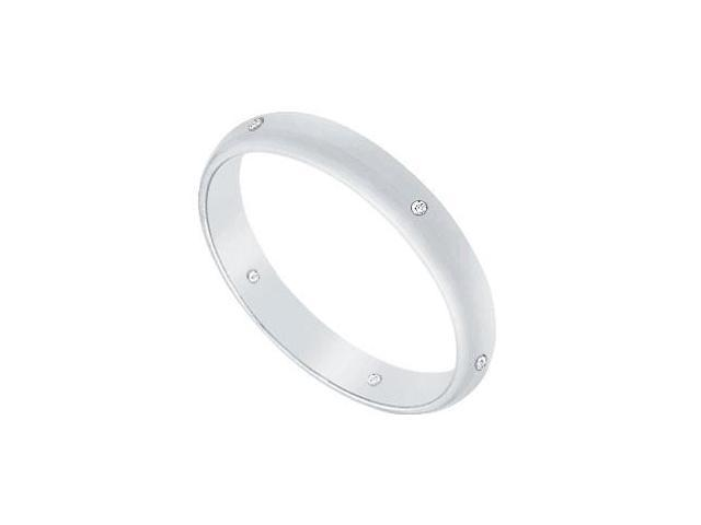 2.5MM Half Round Wedding Band with Diamonds  Platinum - 0.05 CT TDW