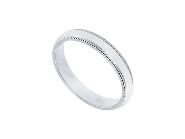 Platinum 2.5MM Non-Comfort Fit Milgrain Wedding Band