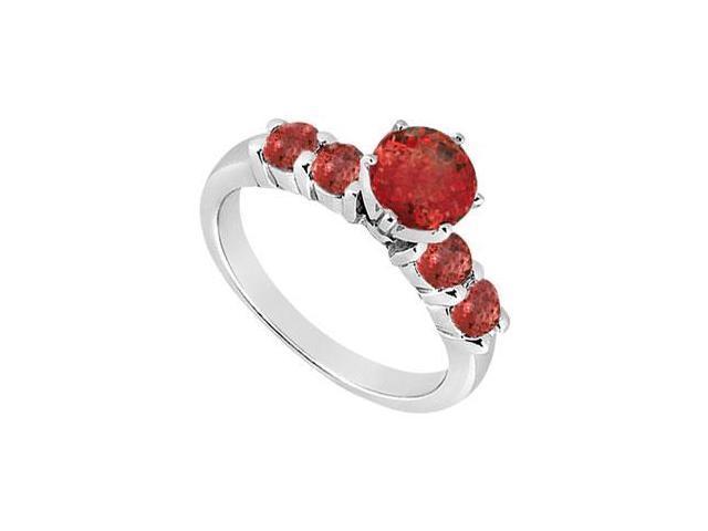 Ruby Ring  14K White Gold - 0.75 CT TGW