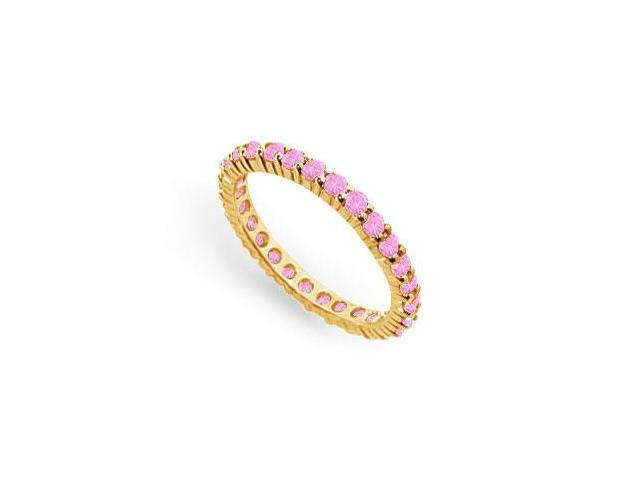 Pink Sapphire Eternity Band  14K Yellow Gold  1.00 CT TGW