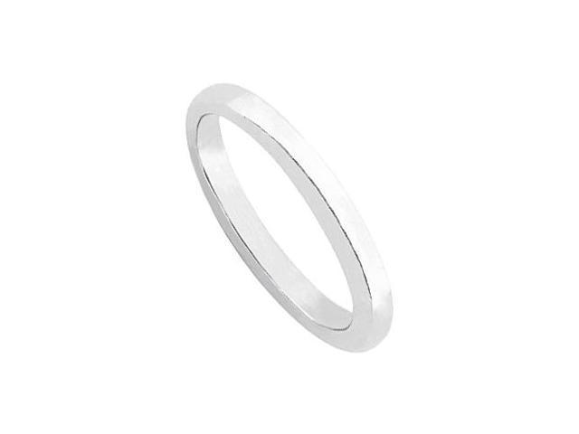 Wedding Ring in 14K White Gold. 2.70mm