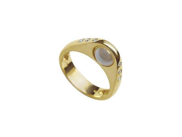 Cultured Pearl and Diamond Ring  14K Yellow Gold - 0.12 CT Diamonds