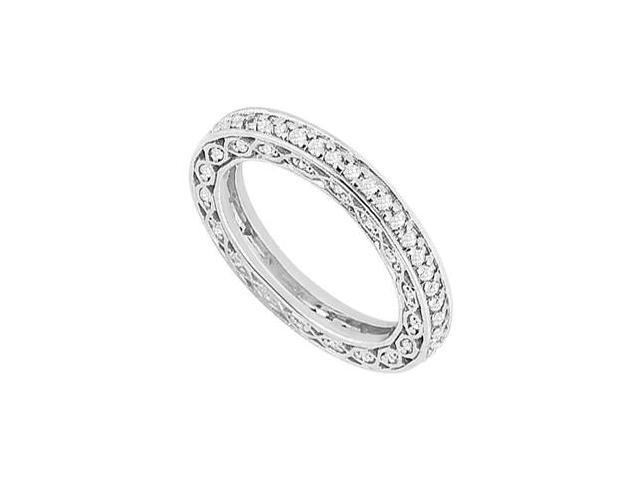 Diamond Eternity Fancy Band in 14K White Gold 0.65 Carat Diamonds