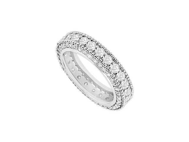 2 Carat Diamonds Eternity Wedding Band in 14K White Gold