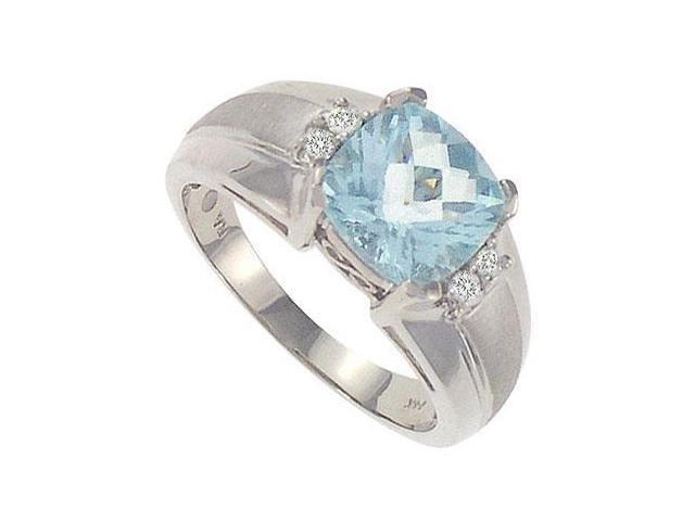 Aquamarine and Diamond Ring  14K White Gold - 2.33 CT TGW