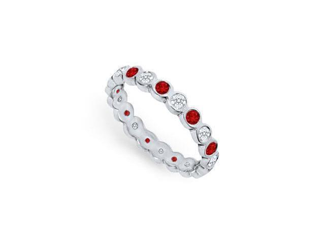 Diamond and Ruby Eternity Band  Platinum  1.00 CT TGW