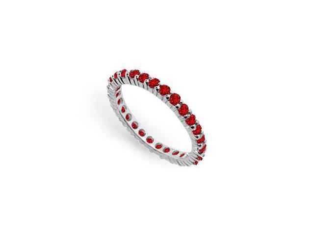 GF Bangkok Ruby Eternity Band 925 Sterling Silver  1.00 Carat Total Gem Weight
