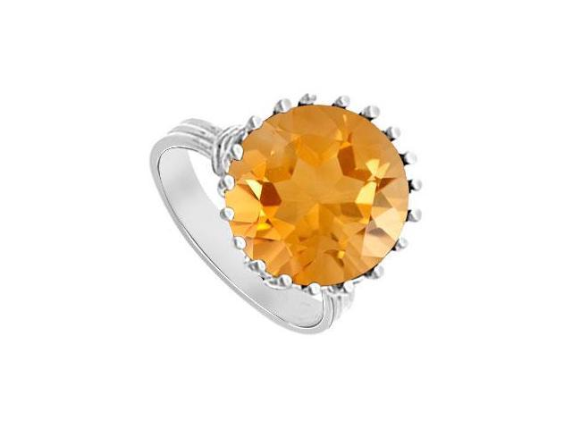 Citrine Fashion Mounting Solitaire Ring  14K White Gold - 1.00 CT TGW