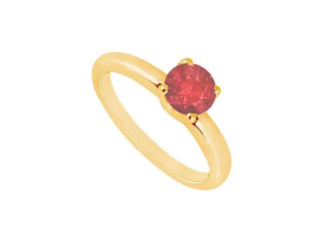 Ruby Ring  14K Yellow Gold - 1.00 CT TGW