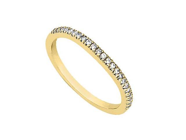 14K Yellow Gold Half Band Diamond Wedding Ring of 0.20 Carat Diamonds
