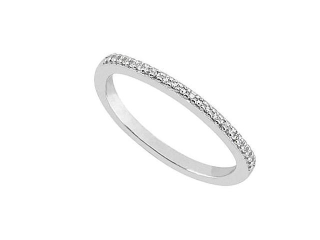 Wedding Bands in 14K White Gold Diamond in 0.15 Carat Diamonds