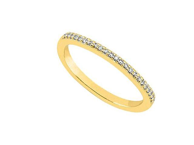 Wedding Bands in 14K Yellow Gold Diamond in 0.15 Carat Diamonds