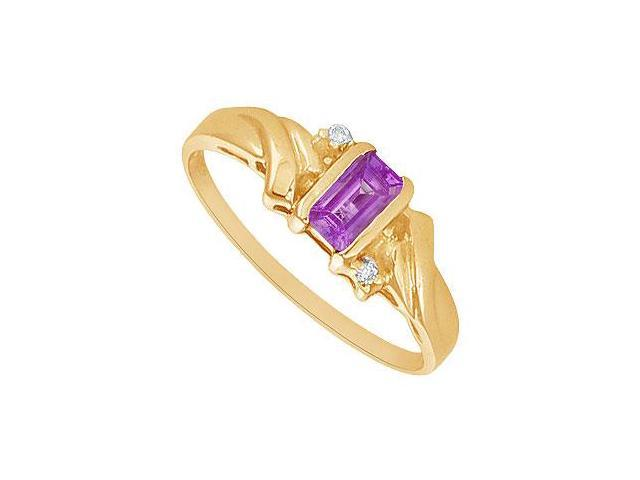 Amethyst and Diamond Ring  14K Yellow Gold - 1.00 CT TGW