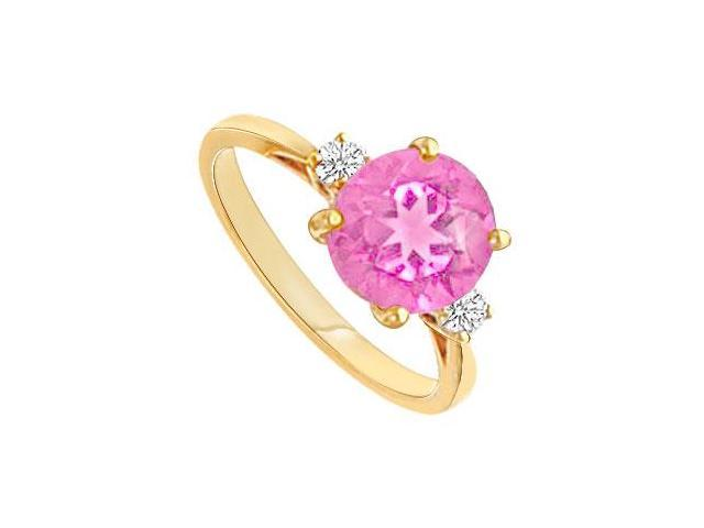 Pink Topaz and Diamond Ring  14K Yellow Gold - 0.75 CT TGW