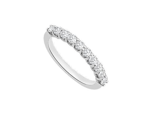 14K White Gold Diamond Wedding Ring with 0.50 Carat Diamonds