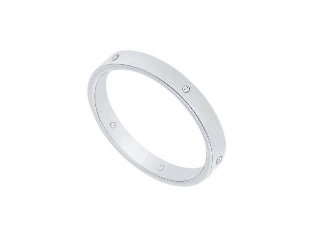 2.5MM Comfort Fit Flat Wedding Band with Diamonds  Platinum - 0.05 CT TDW