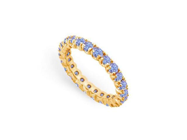 Tanzanite Eternity Band  14K Yellow Gold - 1.00 CT TGW