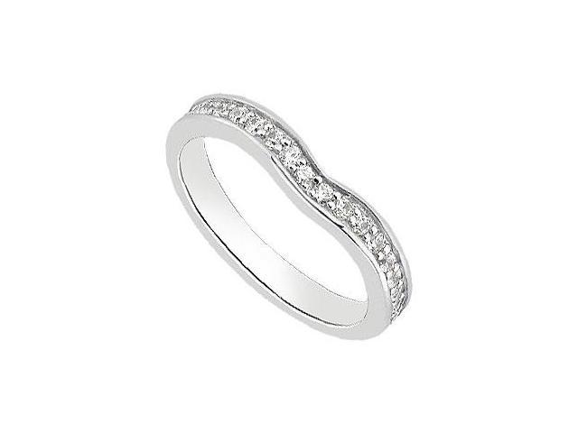 14K White Gold Wedding Bands Diamond of 0.30 Carat Total Diamond Weight