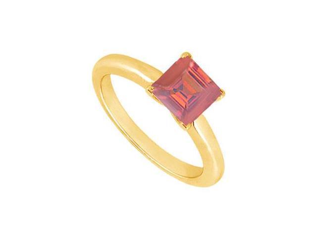 Ruby Ring  14K Yellow Gold - 0.75 CT TGW