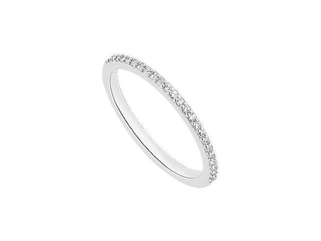 Diamond Wedding Ring of 0.20 Carat Set in White Gold 14K