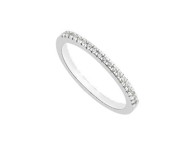 White Gold 14K Diamond Wedding Bands with 0.10 Carat Diamonds