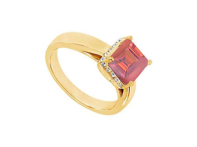 Ruby and Diamond Ring  14K Yellow Gold - 1.00 CT TGW