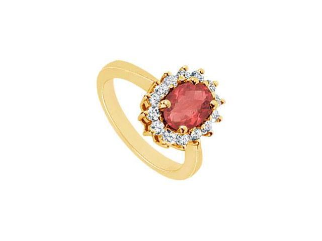Ruby and Diamond Ring  14K Yellow Gold - 1.50 CT TGW