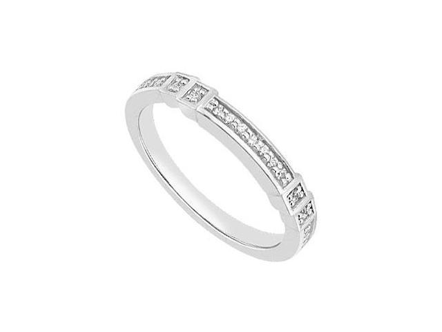14K White Gold  Diamond Wedding Bands of 0.15 Carat Diamonds