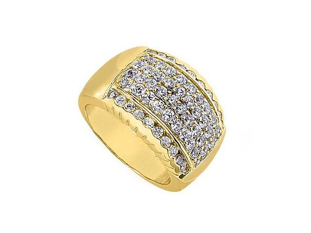 Polished Yellow Gold 14K Fashion Diamond Ring of 1.25 Carat Diamonds