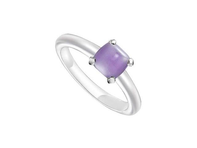 Blue Chalcedony Ring  14K White Gold - 5.00 CT TGW
