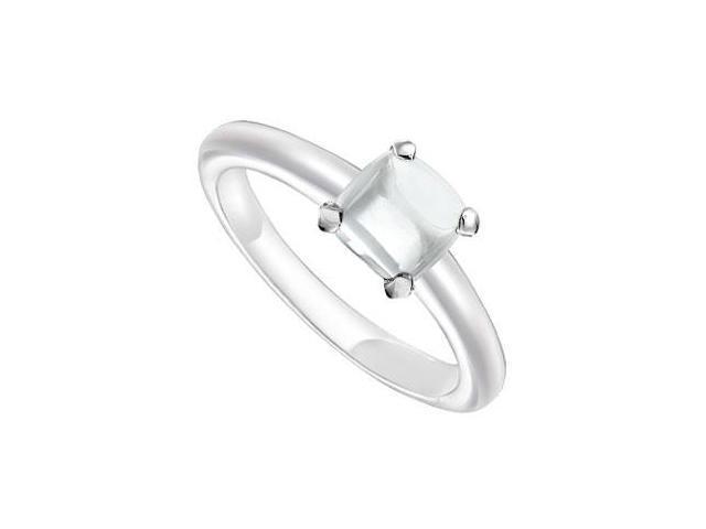 White Chalcedony Ring  14K White Gold - 5.00 CT TGW