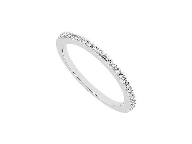 Half Diamond Eternity Wedding Bands in 14K White Gold 0.15 Carat Diamonds