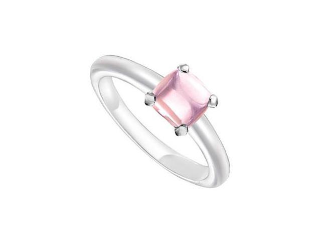 Pink Chalcedony Ring  14K White Gold - 5.00 CT TGW