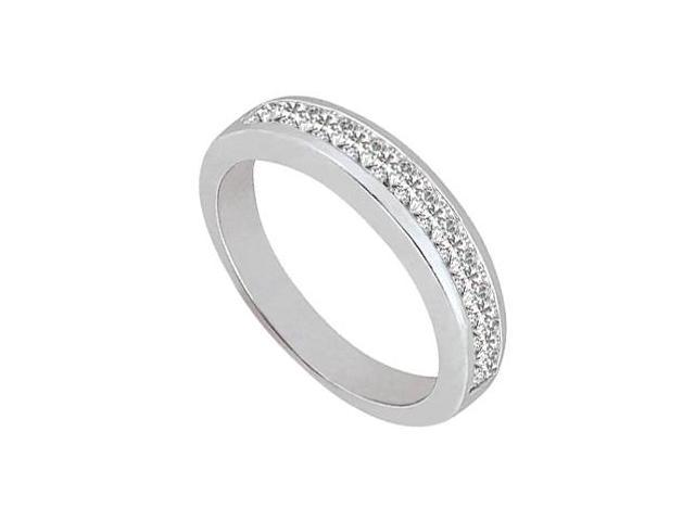Princess Cut Diamond Wedding Band Ring in 14K White Gold 1.50 Carat Diamonds
