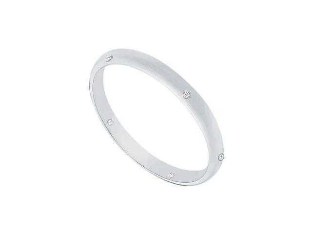 2MM Comfort Fit Half Round Wedding Band with Diamonds  Platinum - 0.05 CT TDW