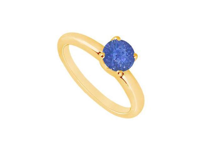Sapphire Ring  14K Yellow Gold - 1.00 CT TGW