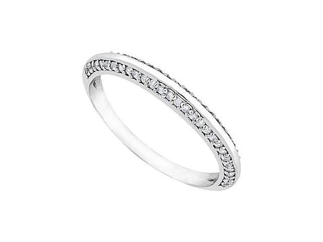 Diamond Wedding Ring in 14K White Gold 0.25.ct.tw