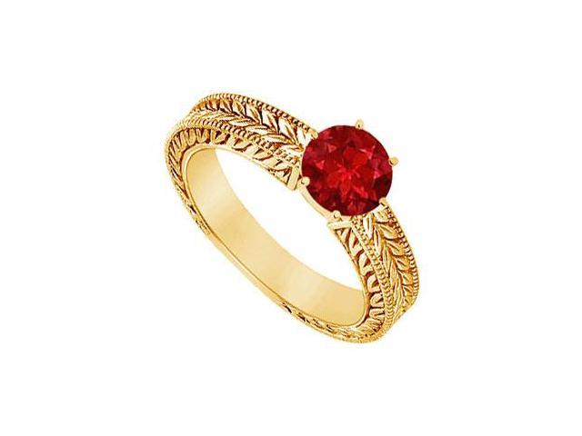 Ruby Ring  14K Yellow Gold - 0.50 CT TGW