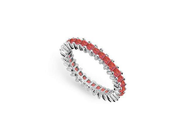 Ruby Eternity Band  14K White Gold  3.00 CT TGW