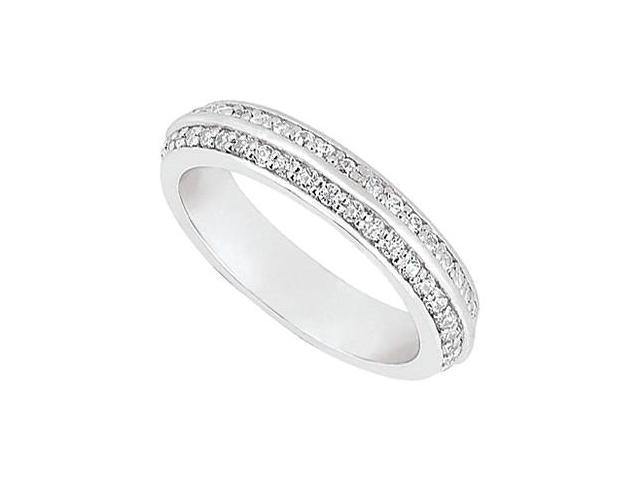 Double Row Diamond Eternity Band in 14kt White Gold 0.75.ct.tdw.