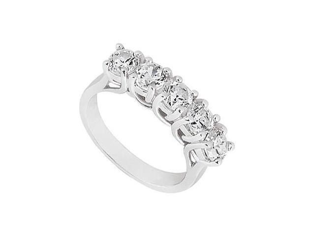 Diamond Five-Stone Ring in 14kt White Gold 0.50.ct.tw
