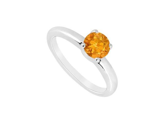 Citrine Ring  14K White Gold - 1.00 CT TGW